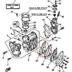 Joint de carter pour moteur hors bord Yamaha 25ELN 1984 25ELK 1985