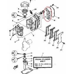 joint de carter pour moteur hors bord Yamaha 8LN 1984 8SN 1984