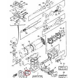 Joint de culasse pour jet ski Yamaha WJ500 1987 1990 WR500 1987 1993