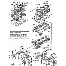Vis de cylindre pour bateau Yamaha EXT1100 1996 1998