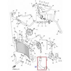 Tuyau de radiateur pour Yamaha YZF-R1 2009-2013