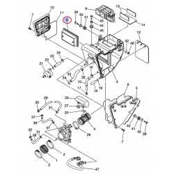 Filtre à air pour Yamaha XT660R/X 04-14 et MT-03 06-11