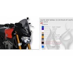 Saute vent Noir Foncé Ermax 33cm pour Yamaha MT09