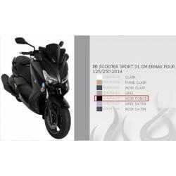 Pare Brise Sport Ermax Noir Foncé 31 cm pour Yamaha Xmax 125 et 250 de 2014